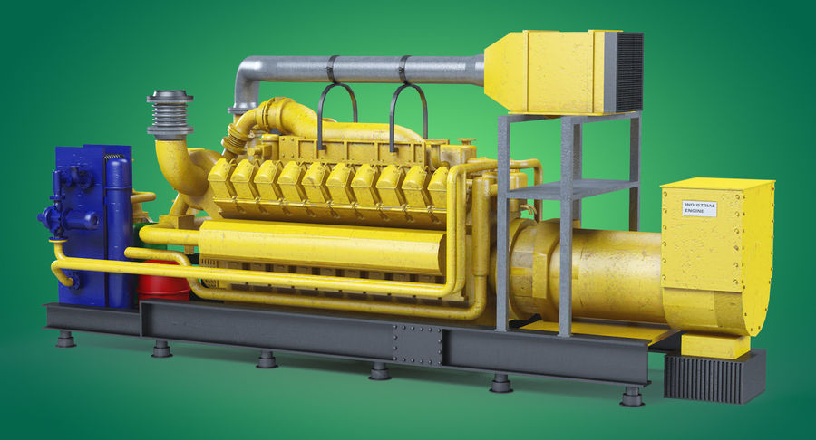 Industriemotor royalty-free 3d model - Preview no. 2
