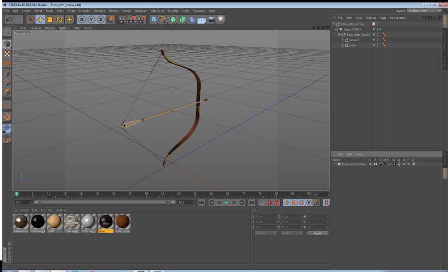 Arco con flecha royalty-free modelo 3d - Preview no. 16