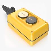 2-knapps upp / ner-pendel-tryckknapp 3d model