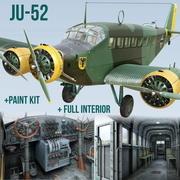Junkers Ju-52 3m-g7 3d model