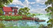 Lake House Environment 3d model