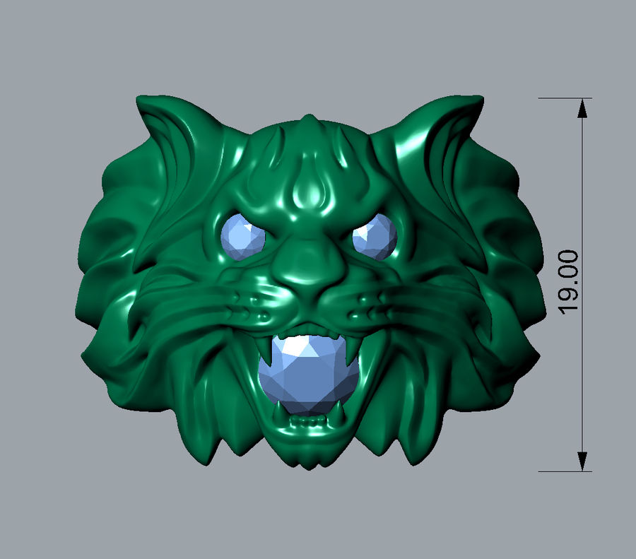 Wild Cat Ring royalty-free 3d model - Preview no. 3