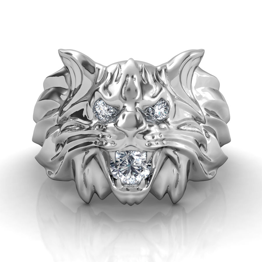 Wild Cat Ring royalty-free 3d model - Preview no. 1