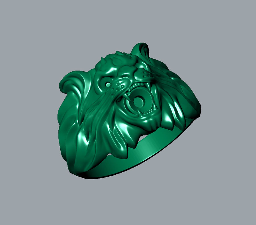 Wild Cat Ring royalty-free 3d model - Preview no. 8