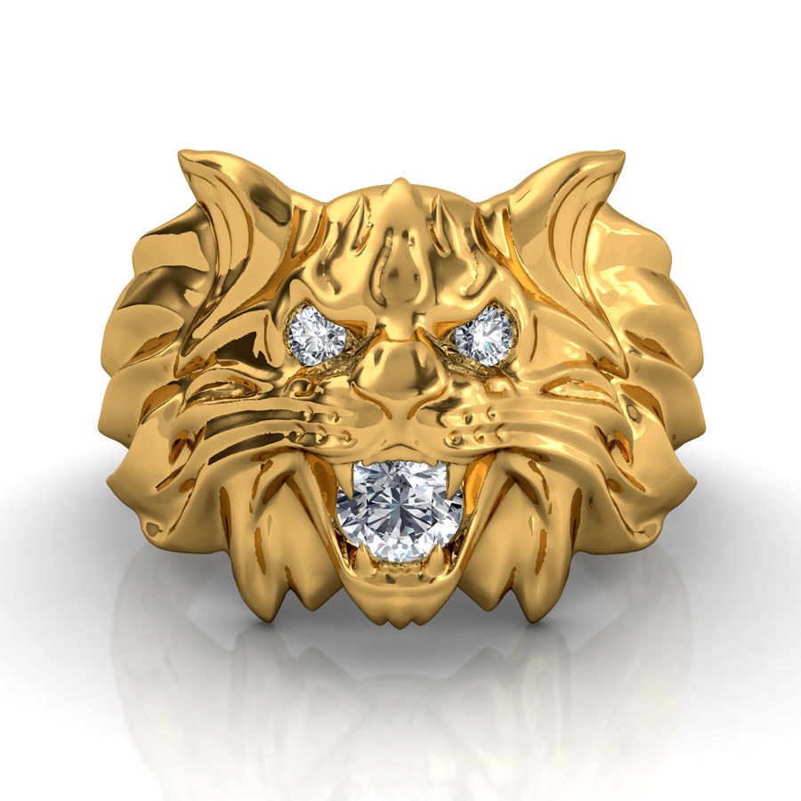 Wild Cat Ring royalty-free 3d model - Preview no. 2