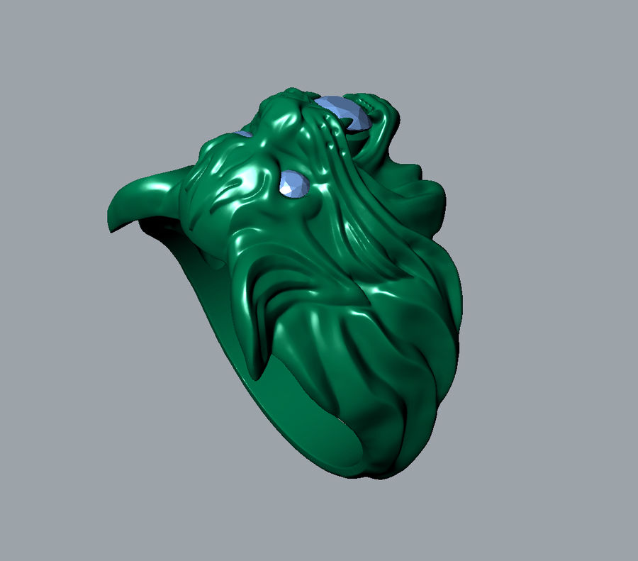 Wild Cat Ring royalty-free 3d model - Preview no. 7