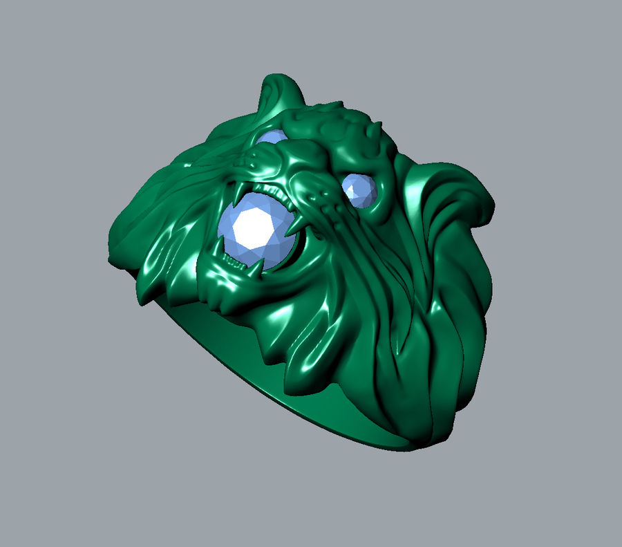 Wild Cat Ring royalty-free 3d model - Preview no. 6