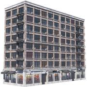 アパート 3d model