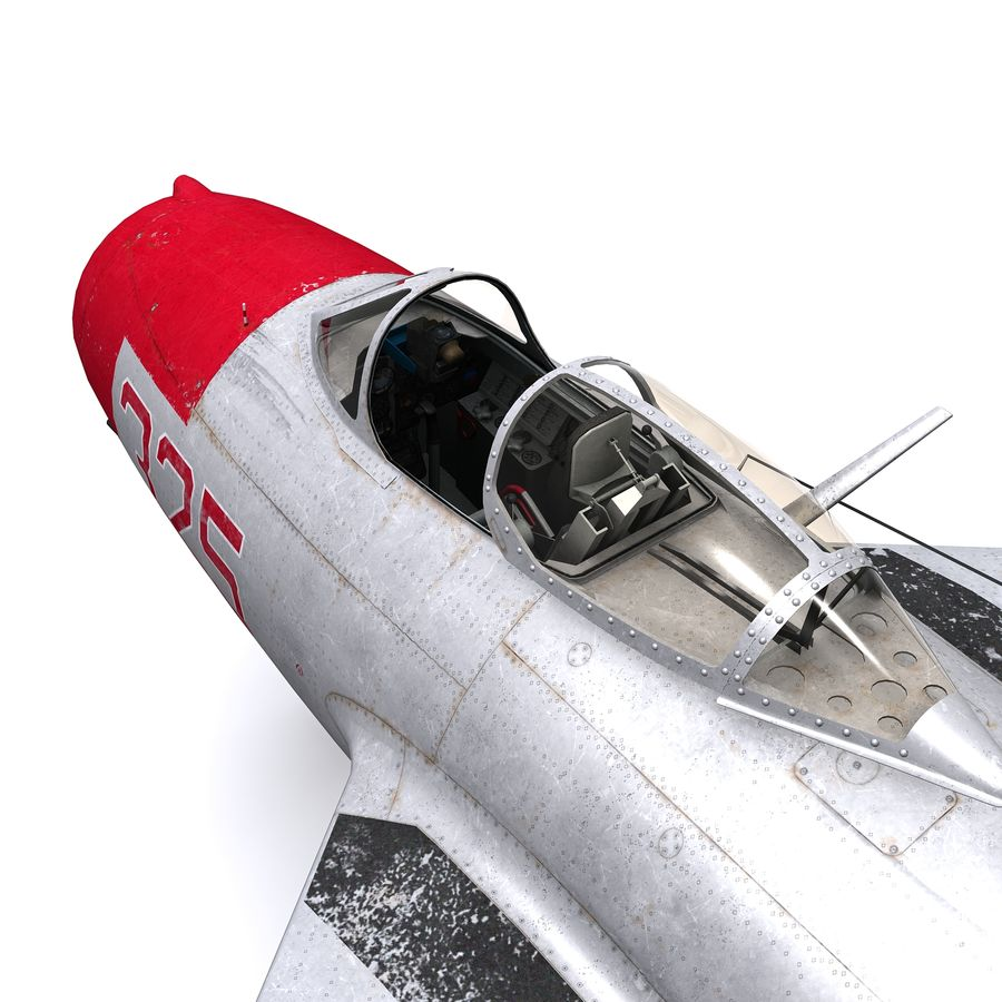 MiG-15 bis Fagot B - Col Pepelyaev, 196ème GvIAP royalty-free 3d model - Preview no. 8