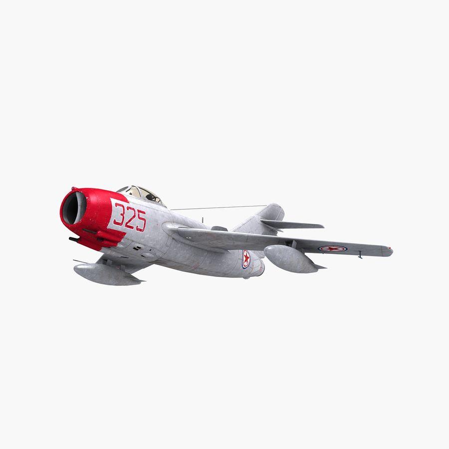 MiG-15 bis Fagot B - Col Pepelyaev, 196ème GvIAP royalty-free 3d model - Preview no. 15