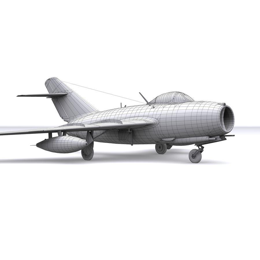 MiG-15 bis Fagot B - Col Pepelyaev, 196ème GvIAP royalty-free 3d model - Preview no. 23
