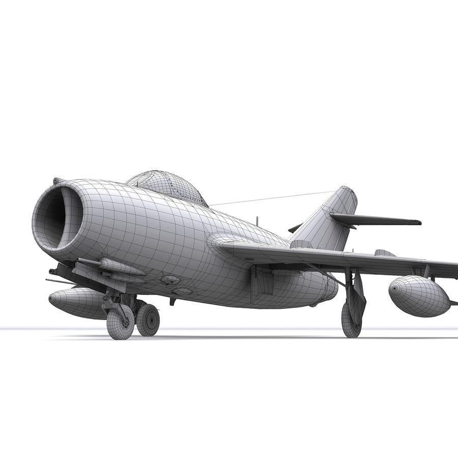 MiG-15 bis Fagot B - Col Pepelyaev, 196ème GvIAP royalty-free 3d model - Preview no. 25