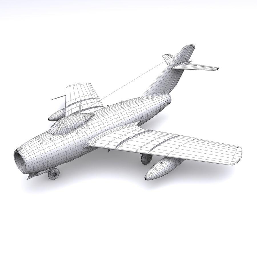 MiG-15 bis Fagot B - Col Pepelyaev, 196ème GvIAP royalty-free 3d model - Preview no. 20