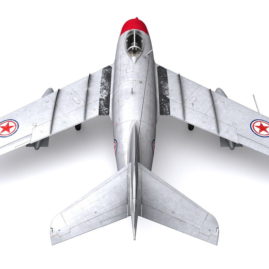 MiG-15 bis Fagot B - Col Pepelyaev, 196ème GvIAP royalty-free 3d model - Preview no. 14