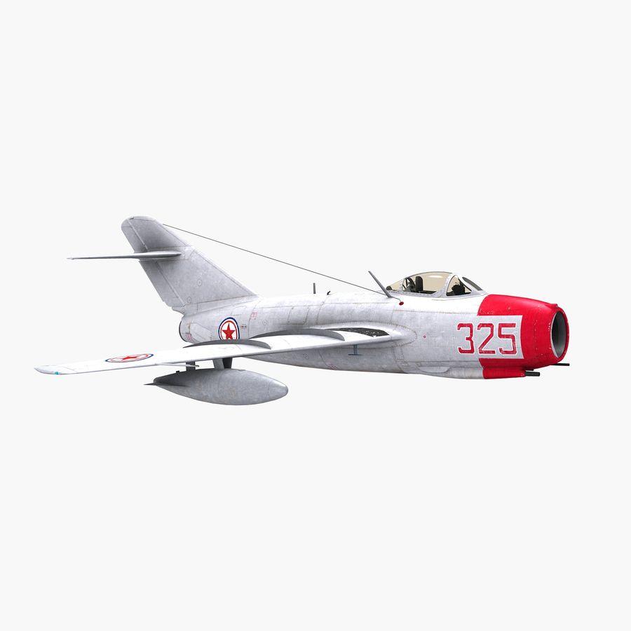 MiG-15 bis Fagot B - Col Pepelyaev, 196ème GvIAP royalty-free 3d model - Preview no. 19