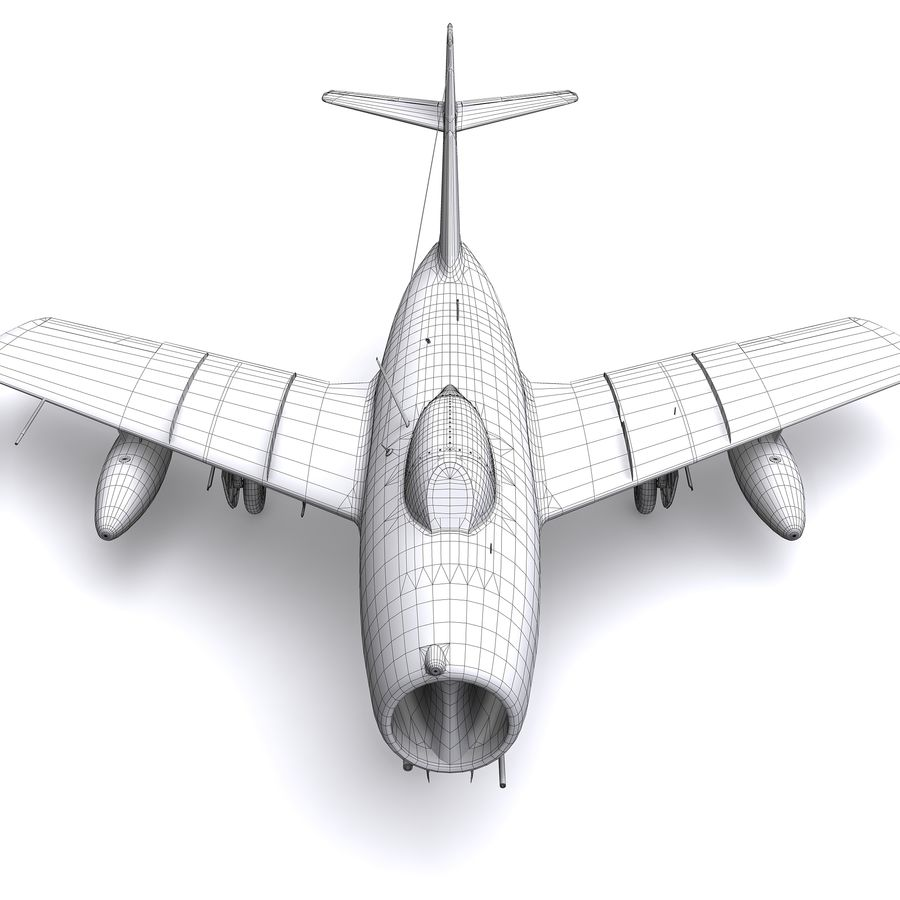 MiG-15 bis Fagot B - Col Pepelyaev, 196ème GvIAP royalty-free 3d model - Preview no. 31