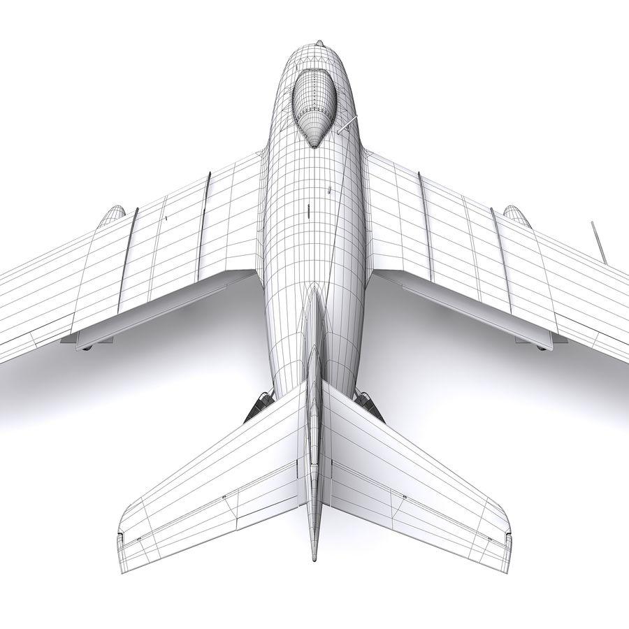 MiG-15 bis Fagot B - Col Pepelyaev, 196ème GvIAP royalty-free 3d model - Preview no. 32