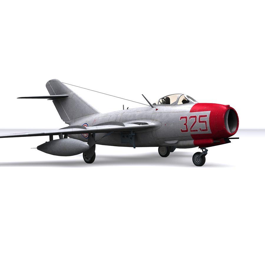 MiG-15 bis Fagot B - Col Pepelyaev, 196ème GvIAP royalty-free 3d model - Preview no. 5