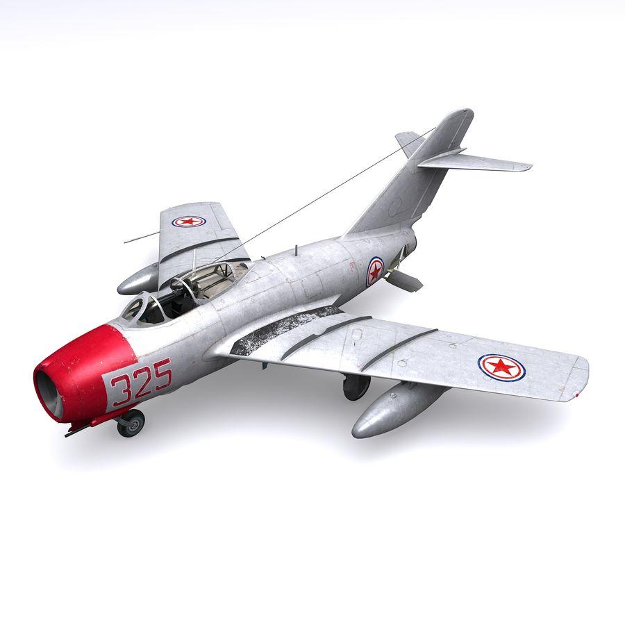 MiG-15 bis Fagot B - Col Pepelyaev, 196ème GvIAP royalty-free 3d model - Preview no. 2