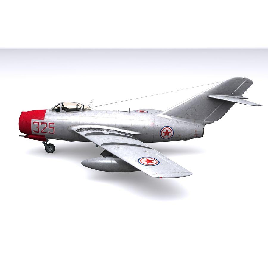 MiG-15 bis Fagot B - Col Pepelyaev, 196ème GvIAP royalty-free 3d model - Preview no. 12