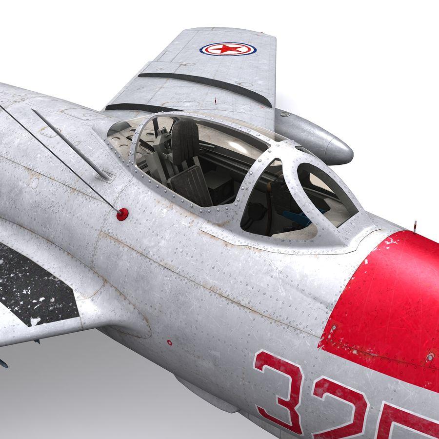 MiG-15 bis Fagot B - Col Pepelyaev, 196ème GvIAP royalty-free 3d model - Preview no. 6