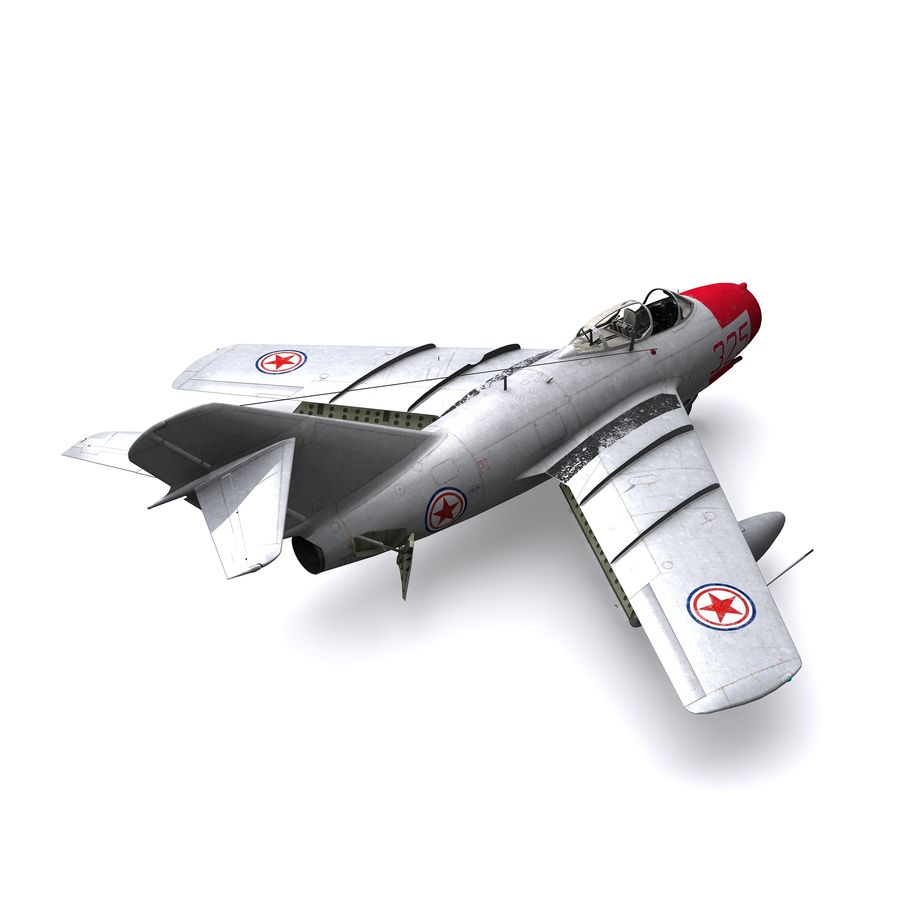 MiG-15 bis Fagot B - Col Pepelyaev, 196ème GvIAP royalty-free 3d model - Preview no. 4