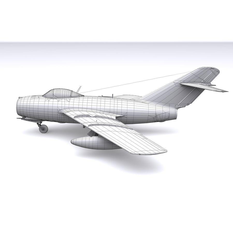 MiG-15 bis Fagot B - Col Pepelyaev, 196ème GvIAP royalty-free 3d model - Preview no. 30