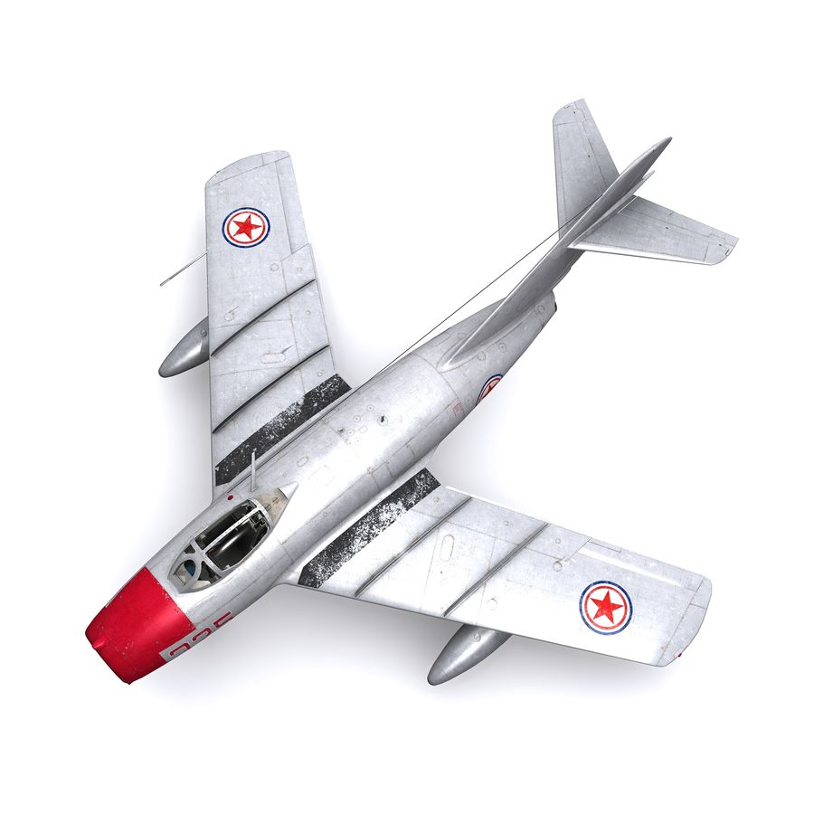 MiG-15 bis Fagot B - Col Pepelyaev, 196ème GvIAP royalty-free 3d model - Preview no. 11