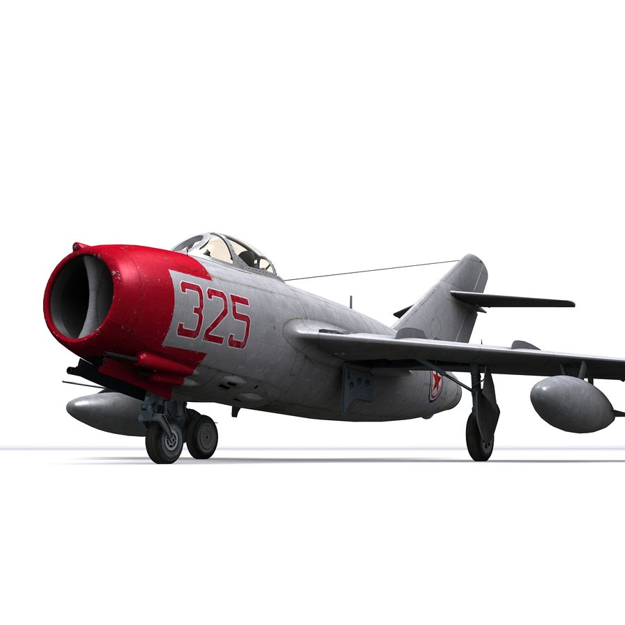 MiG-15 bis Fagot B - Col Pepelyaev, 196ème GvIAP royalty-free 3d model - Preview no. 7