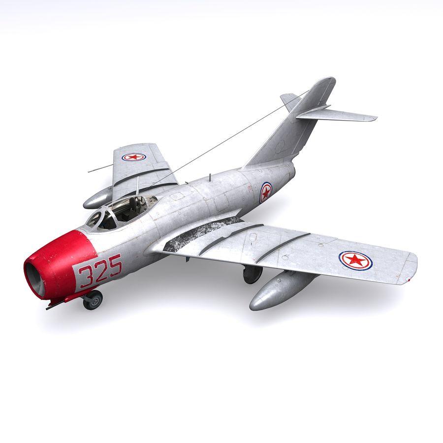 MiG-15 bis Fagot B - Col Pepelyaev, 196ème GvIAP royalty-free 3d model - Preview no. 1