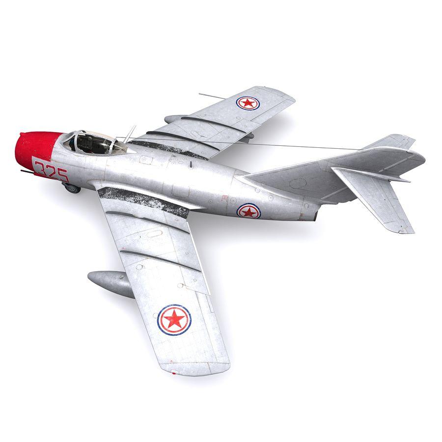 MiG-15 bis Fagot B - Col Pepelyaev, 196ème GvIAP royalty-free 3d model - Preview no. 3