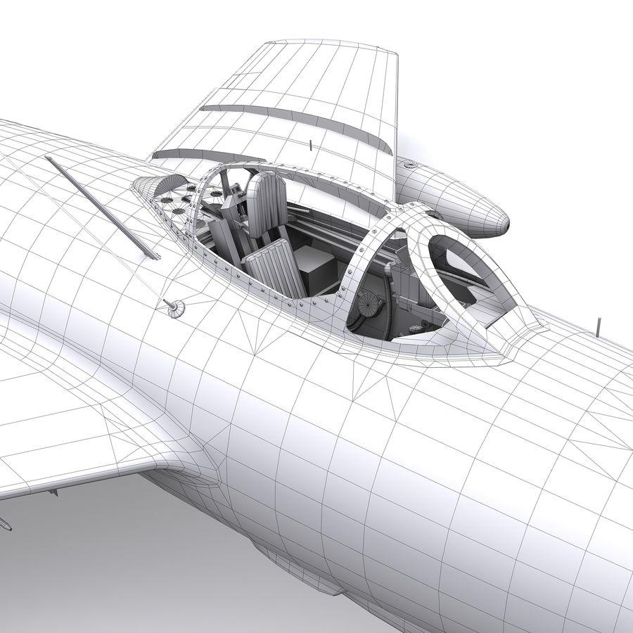 MiG-15 bis Fagot B - Col Pepelyaev, 196ème GvIAP royalty-free 3d model - Preview no. 24
