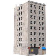 Apartment Building 2 3d model