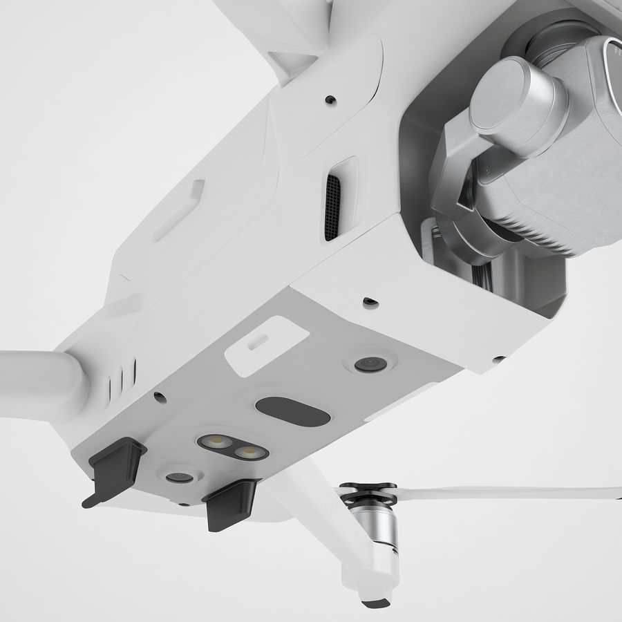 DJI Mavic 2 Pro White royalty-free 3d model - Preview no. 23