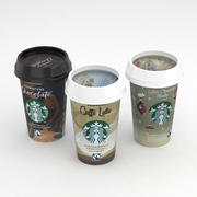 Starbucks Coffe 220ml Collection 3d model