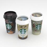 Starbucks Coffe 220ml Collection 3d model
