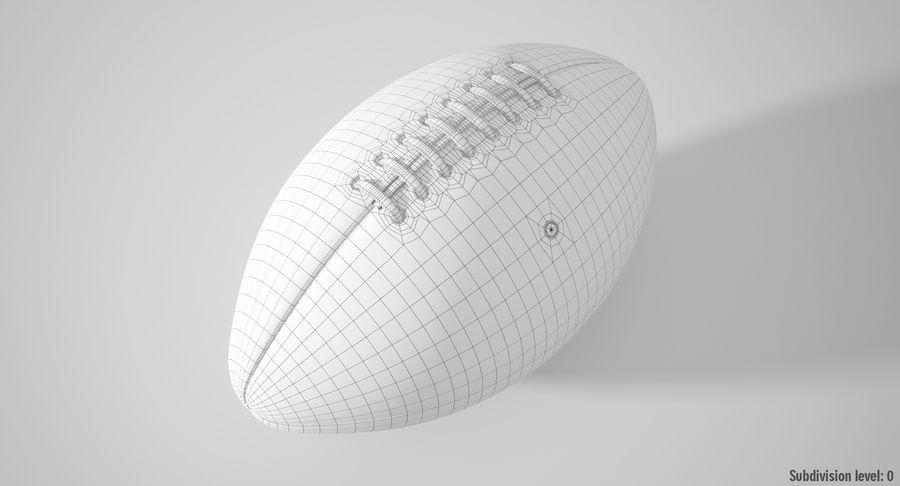 美式足球球 royalty-free 3d model - Preview no. 5