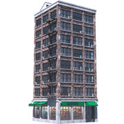 Apartment Building 4 3d model