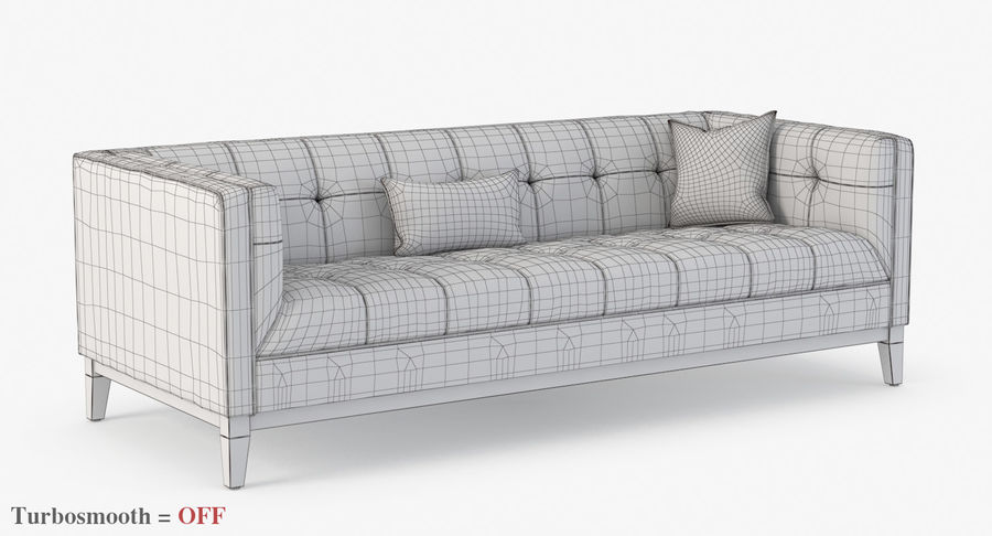 Gus Modern Atwood Sofa 3 Seater 3d, Gus Atwood Sofa