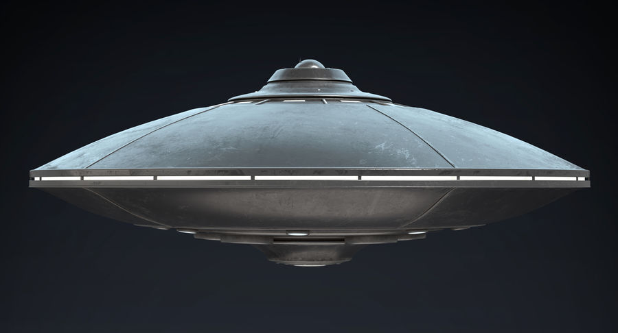 UFO 2 royalty-free 3d model - Preview no. 3