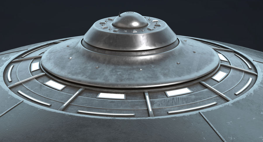 UFO 2 royalty-free 3d model - Preview no. 6