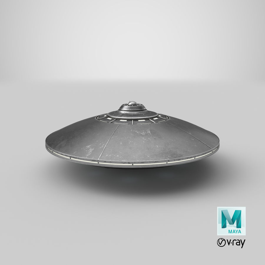 UFO 2 royalty-free 3d model - Preview no. 15