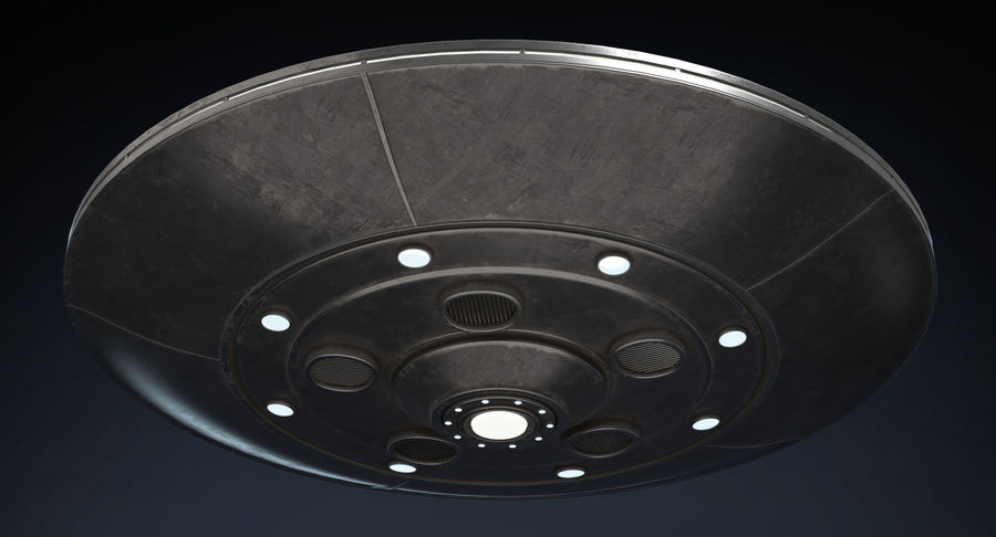 UFO 2 royalty-free 3d model - Preview no. 9