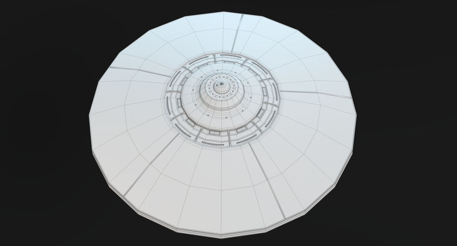 UFO 2 royalty-free 3d model - Preview no. 11