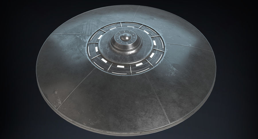 UFO 2 royalty-free 3d model - Preview no. 4