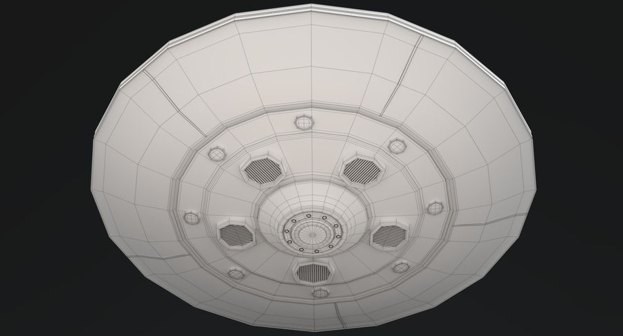 UFO 2 royalty-free 3d model - Preview no. 13