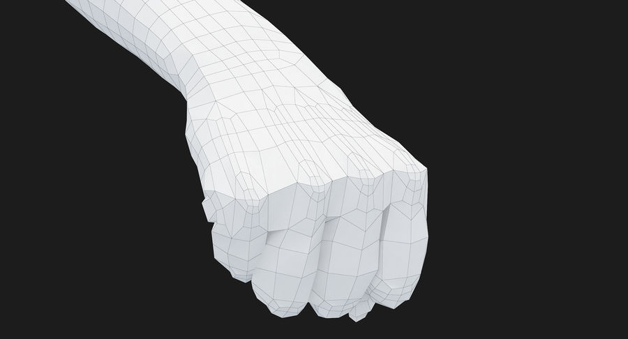 Female Arm A (Pose D Textured) Fist royalty-free 3d model - Preview no. 53