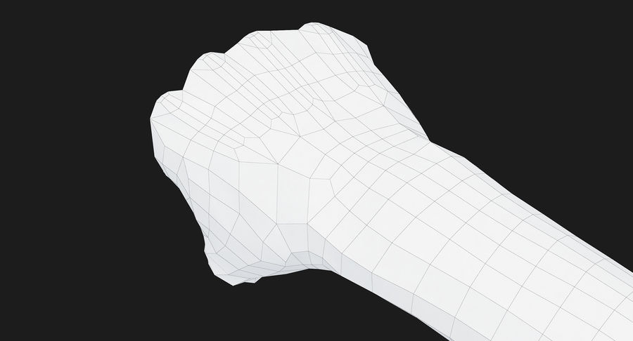 Female Arm A (Pose D Textured) Fist royalty-free 3d model - Preview no. 43