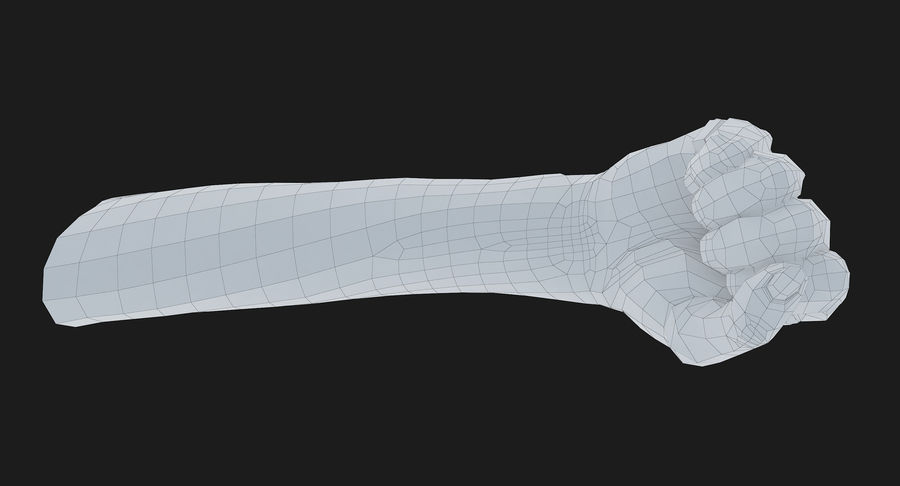 Female Arm A (Pose D Textured) Fist royalty-free 3d model - Preview no. 55