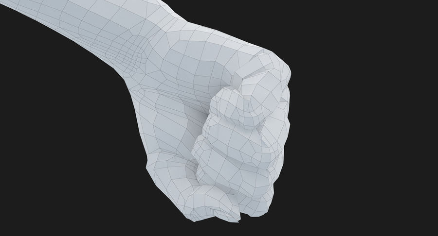 Female Arm A (Pose D Textured) Fist royalty-free 3d model - Preview no. 45
